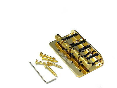 MM Style Bass Bridge Brücke Steg Saitenhalter 4-string Gold