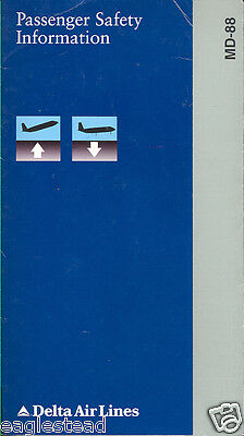 Safety Card - Delta Air Lines - MD-88 - 1995 (S1074)