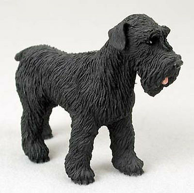 Schnauzer Hand Painted Dog Figurine Statue Black Uncropped