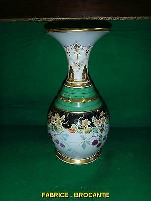 GRAND VASE EN PORCELAINE DE PARIS DU XIX ème SIECLE