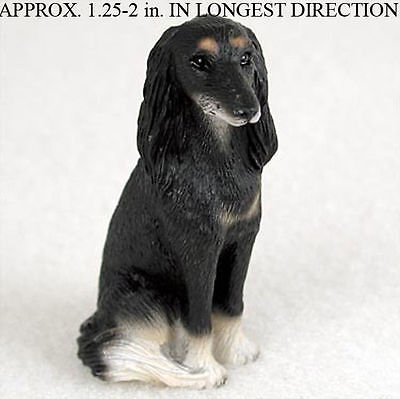 Saluki Mini Resin Hand Painted Dog Figurine Statue Hand Painted