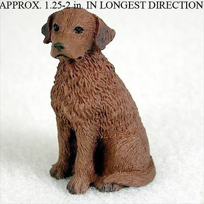 Chesapeake Bay Retriever Mini Resin Hand Painted Dog Figurine