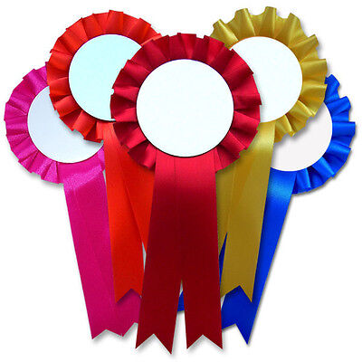 print your own rosettes, 5 rosettes per pack, 18 rosette colours to choose from!