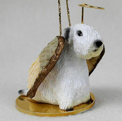 Sealyham Terrier Ornament Angel Figurine Hand Painted