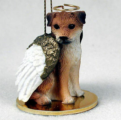 Border Terrier Statue Angel Dog Figurine
