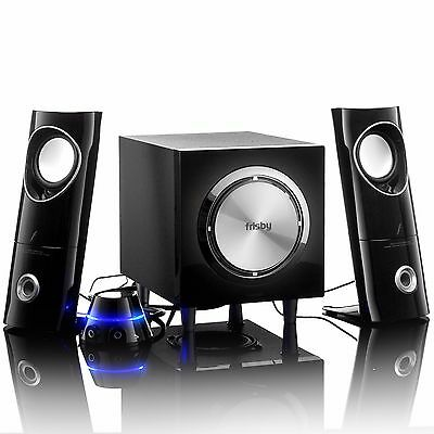 Frisby Amplified 2.1 PC Computer Laptop Notebook Desktop Speakers Wired Remote