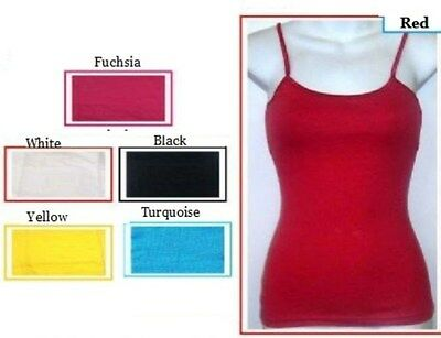 Camisole Stretch Cami Tank Top Assorted Colors Size S M -  M L