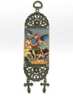 St Michael Archangel Icon Banner with Crosses Tapestry Room Door Decoration WOW