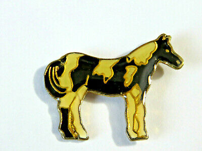 Vintage Pinto Horse Pin,  Painted Horse Pin Black & White  , (**)