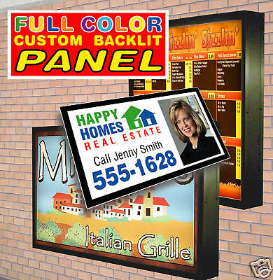 "Replacement Backlit Lightbox Sign Panel Graphic 48""x60"""