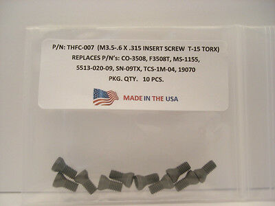10 Pieces THFC-007 Insert Screw: CO-3508 .. MS-1155 .. 5513-020-09 .. TCS-1M-04