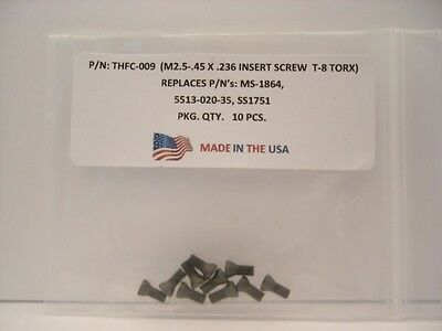 10 Pieces THFC-009 Insert Screw: MS-1864 .. CSPB-2.5 .. 5513-020-35 .. SS1751