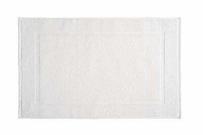Cheap White Bath Mats Terry Towelling 100% Cotton 700 GSM Pack / Set of 2
