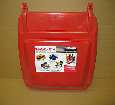 ~ New HuskyLite  95 Gal Red Recycling Bin Lid (161-C1)