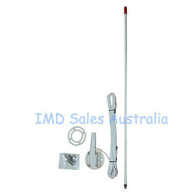 NEW AXIS Marine / Caravan / 27mhz CB Radio Antenna White Nylon Cable Bracket Kit