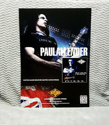 """Cradle of Filth """"Paul Allender"""" Rotosound Promo Poster"""