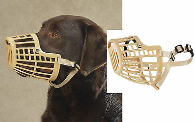 SMALL DOG Quick Fit&Release Adjustable Training Safety HEAVY DUTY BASKET MUZZLE