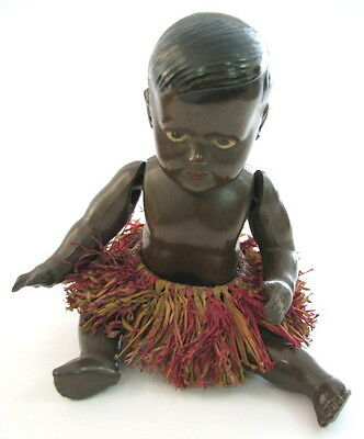 GERMAN ANTIQUE BLACK AFRICAN LOVELY DOLL TOY DRP CELBA CELLULOID SCHOBERL BECK x