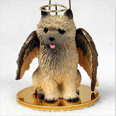 Cairn Terrier Ornament Angel Figurine Hand Painted Red