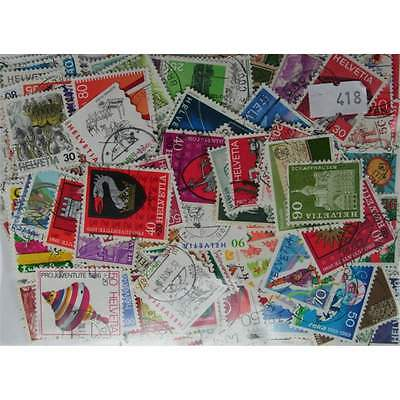 300 Switzerland stamps in packet. (Including Charities) (418)