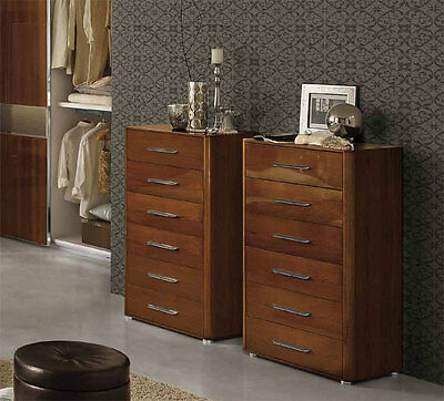 hoch kommode 6 schubladen stil m bel italien nussbaum hochglanz nu baum furnier eur 900 00. Black Bedroom Furniture Sets. Home Design Ideas