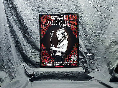 AC/DC *Angus Young* ERNIE BALL PROMO POSTER  ACDC