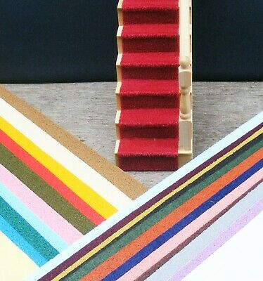1:12 Scale Self Adhesive Dolls House Miniature Stair Carpet Various Colours