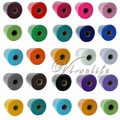 "6""x100yd TULLE Roll Spool Tutu Skirt Gift Craft Chair Sash Bow Tulle Fabric DIY"