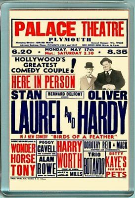 Laurel & and Hardy PALACE THEATRE PLYMOUTH Fridge Magnet