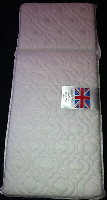 DELUXE QUILTED PRAM SAFETY MATTRESS EXTRA THICK for Silver Cross Wilson Balmoral