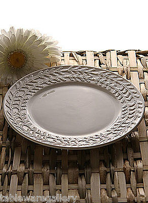 "Belleek Pottery Galway Weave ""Tree Of Life"" (2) Accent Plates"