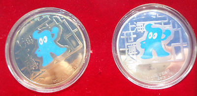 New Shanghai China 2010 World Expo Gold & Silver 2-Coin Collectible Logo Set