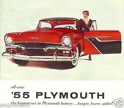 Auto Brochure - Plymouth - Belvedere Savoy Plaza - Car - Engines - 1955 (AB77)