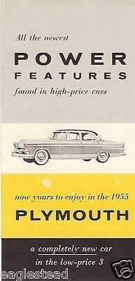 Auto Brochure - Plymouth - Power Features - 1955 (AB79)