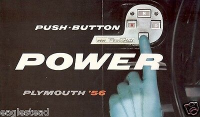 Auto Brochure - Plymouth - Push Button Power Features PowerFlite - 1956 (AB80)