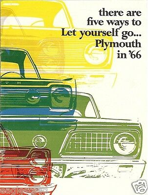 Auto Brochure - Plymouth - VIP Fury Belvedere Valiant Barracuda - 1966 (AB90)