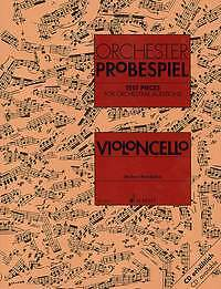 Test pieces for orchestral auditions cello, sheet music, ED 7853 - 979000108141