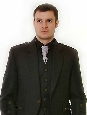 Black Victorian Collar Shirt 4 Rouche  & Kilts £14.99