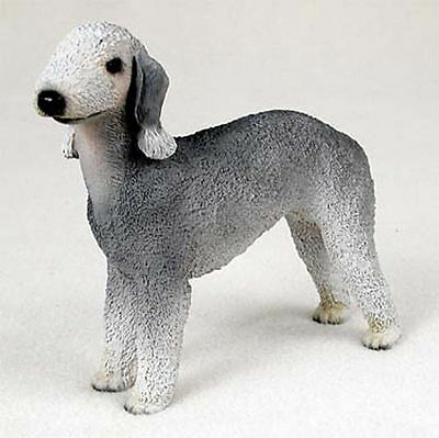 Bedlington Terrier Hand Painted Collectible Dog Figurine