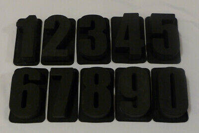 Alphabet NUMBERS Silicone Cake Moulds Bakeware Mould Chocolate Decorating UNIQUE