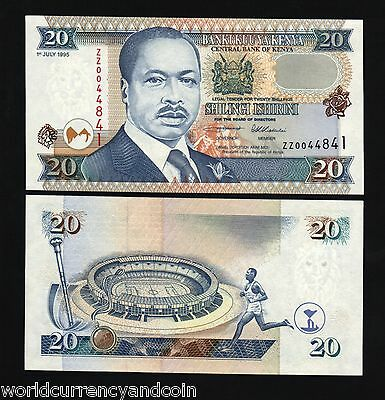 Kenya Africa 20 Shillings P32 1995 *replacement* Zz Olympic Runner Unc Currency