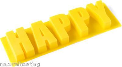 HAPPY (WORD CAKE) Baking Silicon Silicone Mould Tin Pan Alphabet Letters Mould