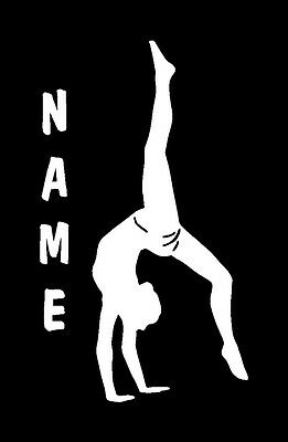 Gymnast with Name Vinyl Sports Decal 8066