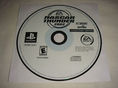 NASCAR Thunder 2002 Collectors' Edition PS1 PlayStation 1 PS One game Disc Only