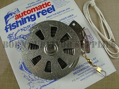 YO-YO MECHANICAL AUTOMATIC FISHING REEL Survival Bushcraft Kit YoYo Fisher Snare