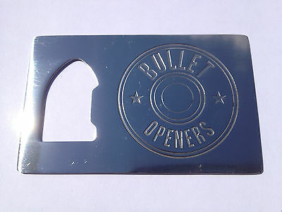 POLISHED Bullet Credit Card Beer Bottle Cap Opener Small Thin Sized FOR Wallets