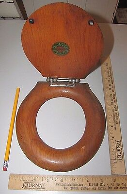 Original Miniture Knott Mfg. Co Atlas Salesman Sample Oak Toilet Seat (4681)