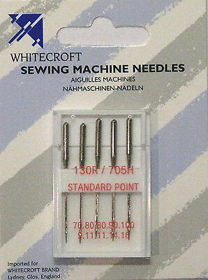 Machine Needles Assorted Standard Point Whitecroft