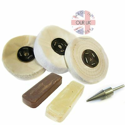 Plastic & Resin Polishing Kit 25 Mops & Compounds- simply use with drill