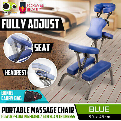 Aluminium Portable Massage Chair Beauty Therapy Bed Tattoo Waxing BLUE